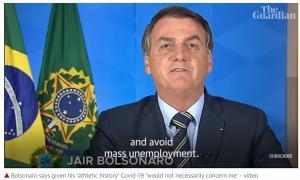 브라질 대통령 볼소나로, 코로나19 확진...전세계 2위로 감염자 162만명 넘어